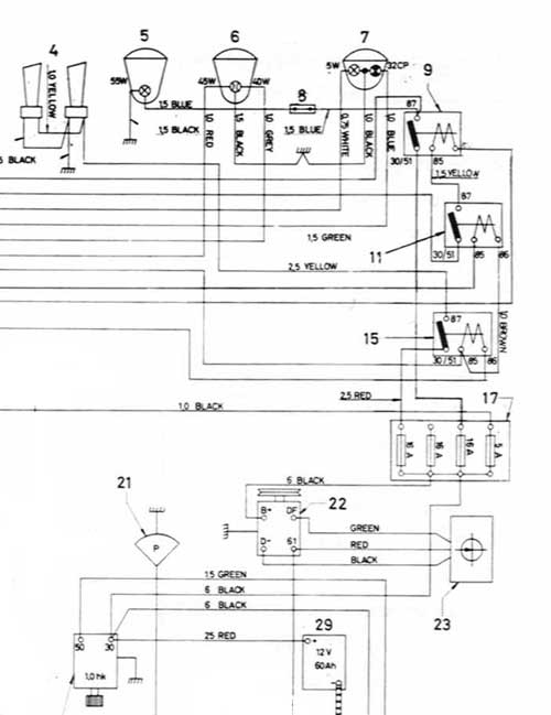headlight control upgrade part of 123gt wiring diagram showing relays and wiring for addition lighting