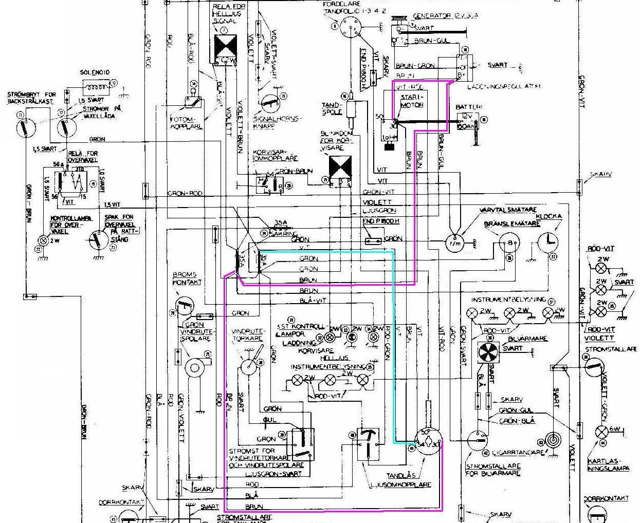 1800 Wiring Diagram marked up 1800 ignition wiring swedish vs british design austin 10/4 wiring diagram at fashall.co