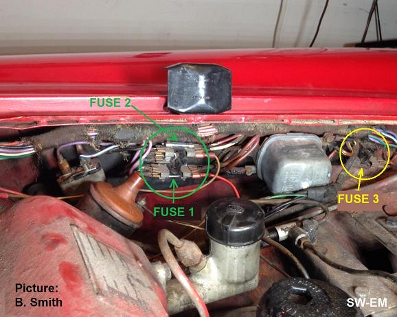 Wiring Diagram Volvo P1800 : B with ignition light permanently on