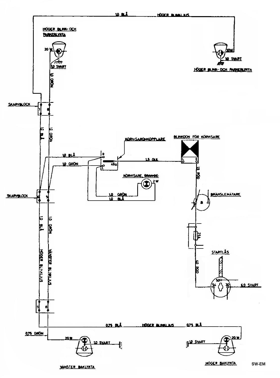 Electrical Wiring Diagram Volvo 544 1989 740 11 1991 940