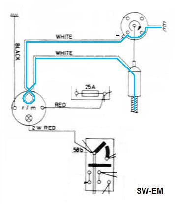 Smith's 20Tachometer on ignition to coil wiring diagram