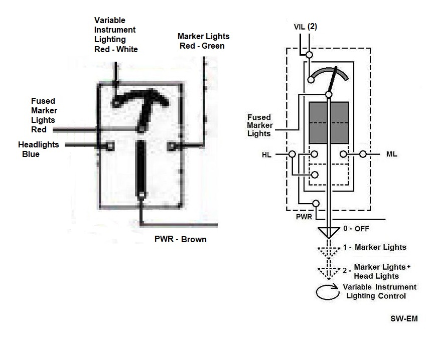 1800 light switch  wiper switch  fan switch drawing corrections
