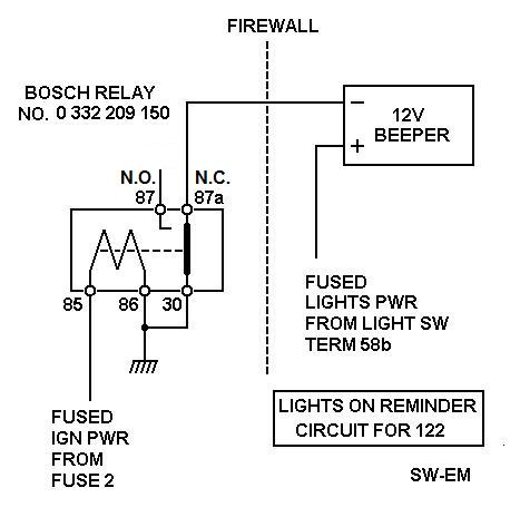 lights on reminder circuit on the request of a 122 owner  link to  thread: http://www brickboard com/rwd/volvo /1266780/120-130/headlight_buzzer html
