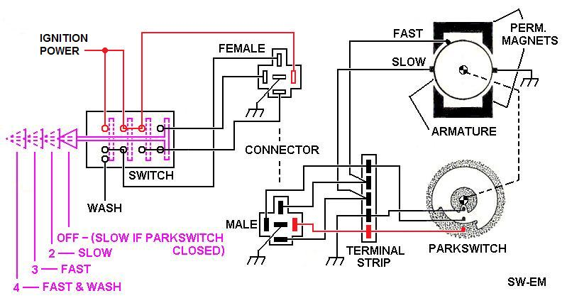 SW-EM Windshield Wiper Systems | Windshield Wiper Switch Wiring Diagram |  | Sw-Em